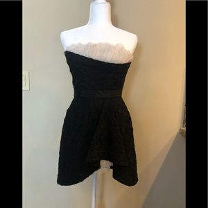 BCBG MAX AZRIA Black Strapless Mini Dress Ruffle 8